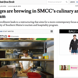 Portland Press Herald – Changes are brewing in SMCC's culinary arts program – July 2016