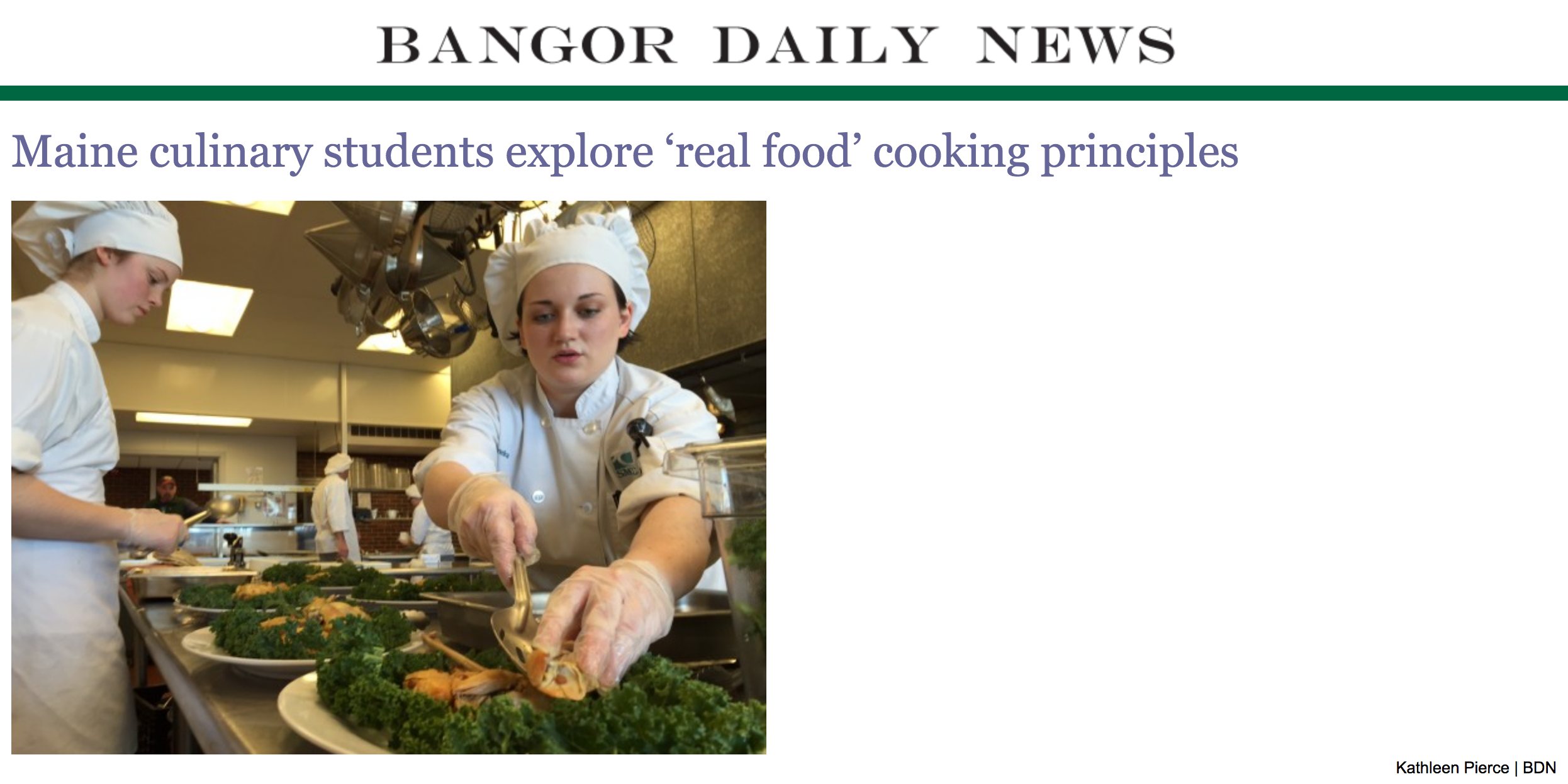 Bangor daily news maine culinary students explore real food bangor daily news maine culinary students explore real food cooking principles december 2015 thecheapjerseys Choice Image